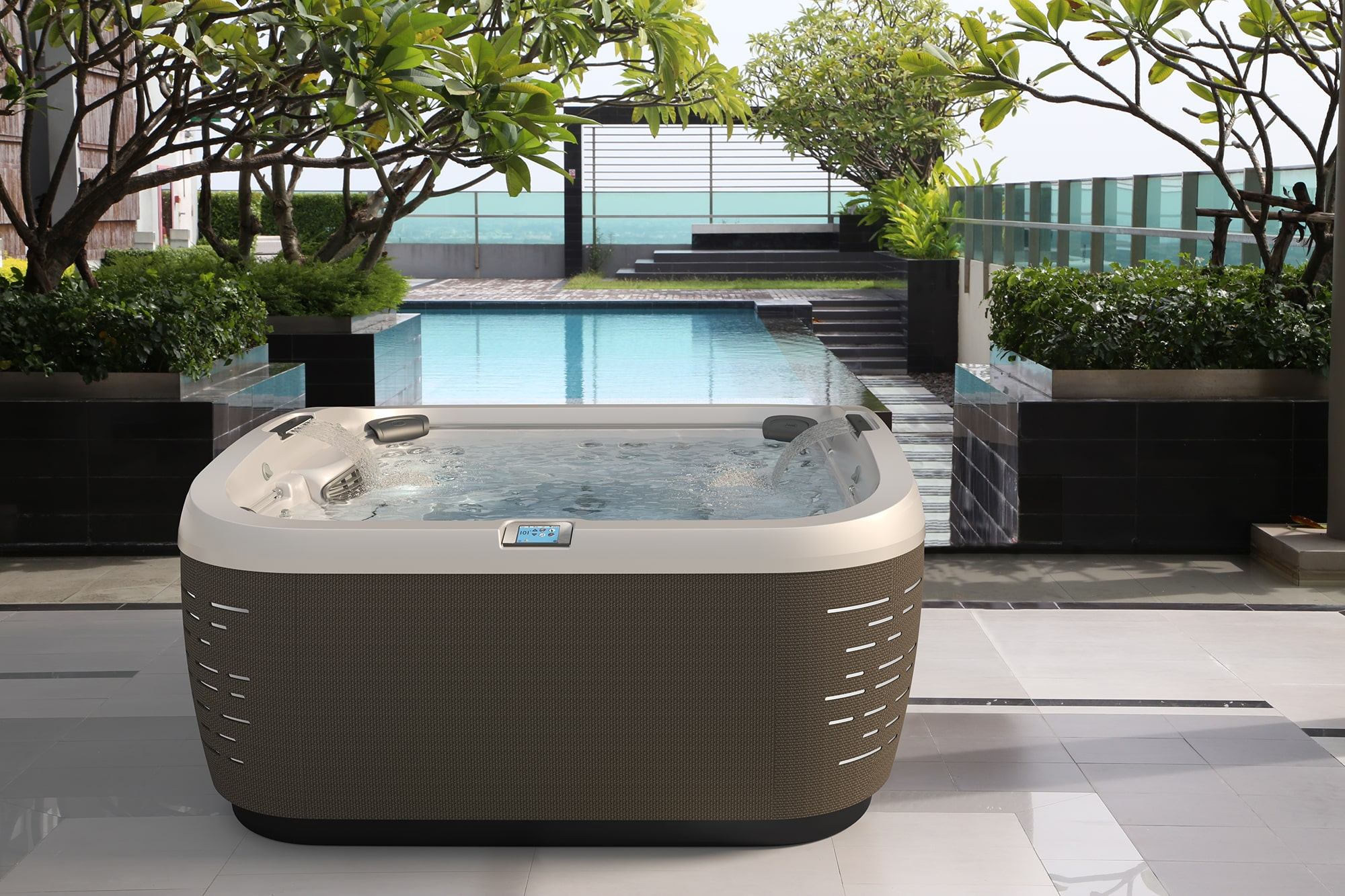 J-585 Jacuzzi Hot Tub installation in West Virginia and Pennsylvania